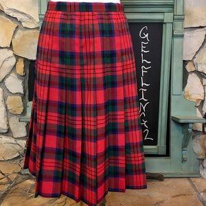 Briggs New York Skirts - Vintage Briggs Plaid Pleated Skirt